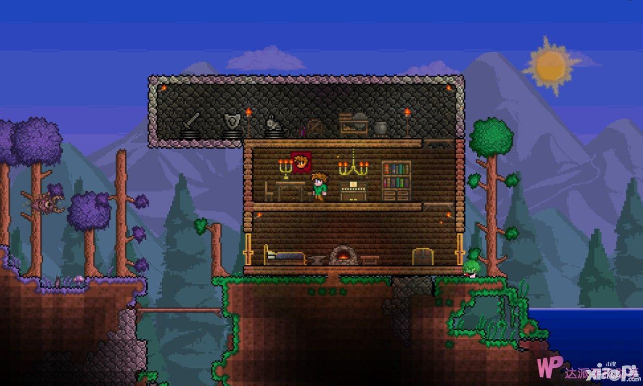 泰拉瑞亚别墅_泰拉瑞亚房子设计图大全_小皮游戏